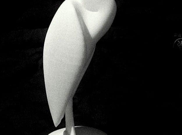 Heron in White Processed Versatile Plastic