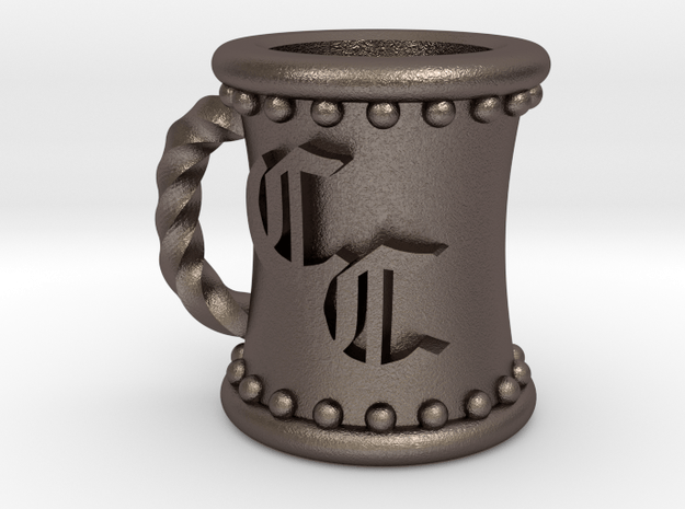 Accidental  Mug in Polished Bronzed Silver Steel
