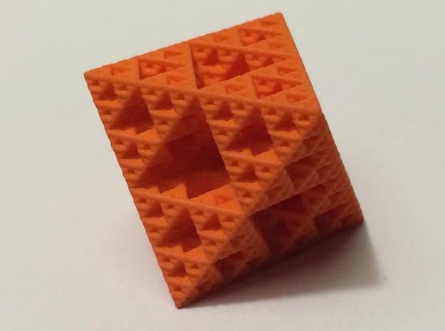 Sierpinksi Octahedron Medium in Orange Processed Versatile Plastic