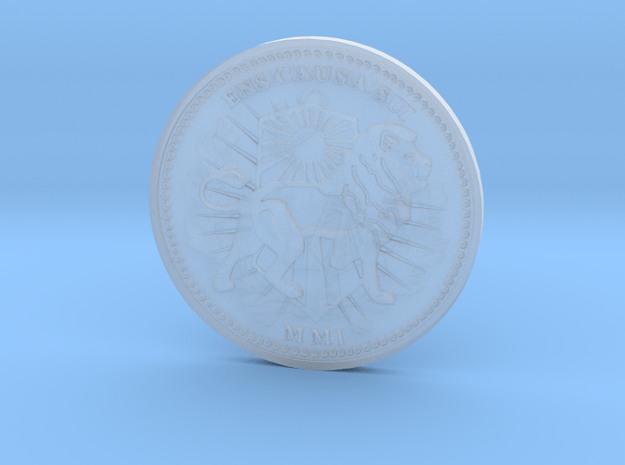 Wick Coin 5 Plastic in Smooth Fine Detail Plastic