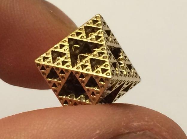 Sierpinski Octahedron Small in Natural Bronze
