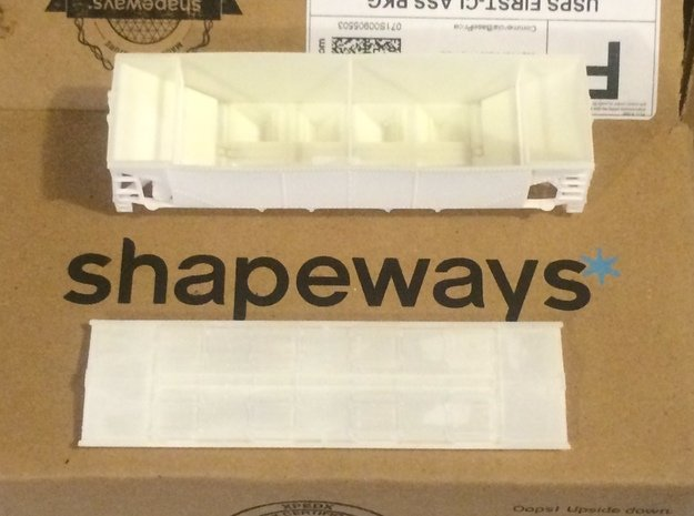 Phosphate Roof for P-9 hopper HO in Smooth Fine Detail Plastic