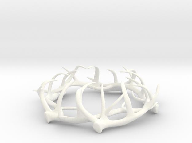 1:12 Antler Decoration in White Processed Versatile Plastic