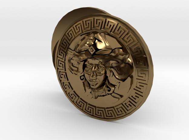 Goddess Face Cufflinks Woman Façade Jewelry in Polished Bronze