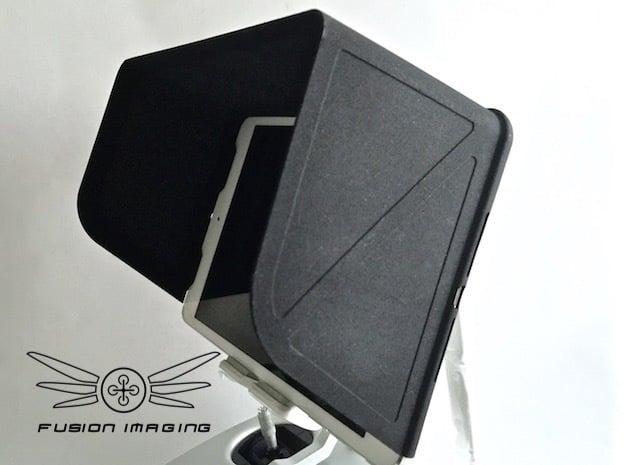 iPad Mini SE Visor / FPV Deep Hood - Easy Glide in Black Natural Versatile Plastic