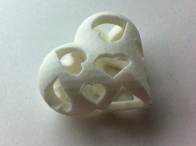 Copy of 1001Hearts in White Natural Versatile Plastic