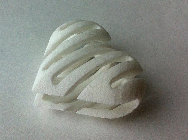 HungryHeart in White Natural Versatile Plastic