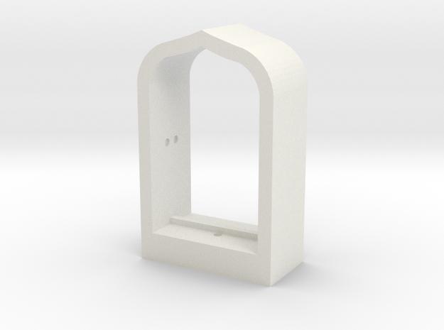 Arabian Window Frame in White Natural Versatile Plastic