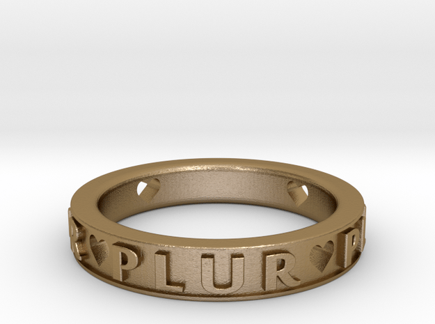Plur Ring - Size 6 in Polished Gold Steel