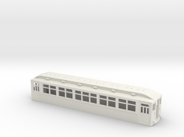 CTA/CRT 1789-1808 Series Wood Rapid Transit Car in White Natural Versatile Plastic