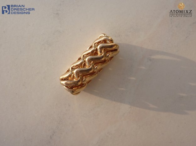 Tubulos Pendant - 30mm in Natural Bronze