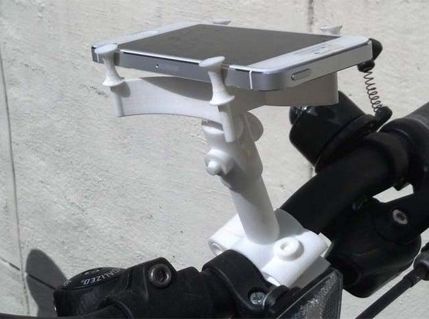 Cycle Bracket Camera Smartphone Mount in White Natural Versatile Plastic