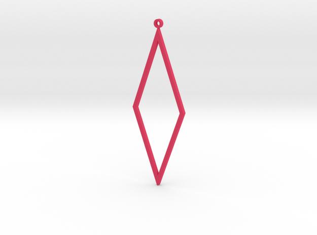 Rhombus Earrings in Pink Processed Versatile Plastic