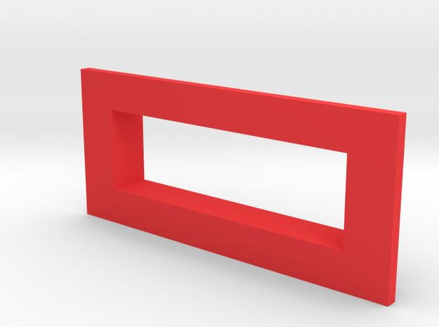 sxmini Square Bezel in Red Processed Versatile Plastic