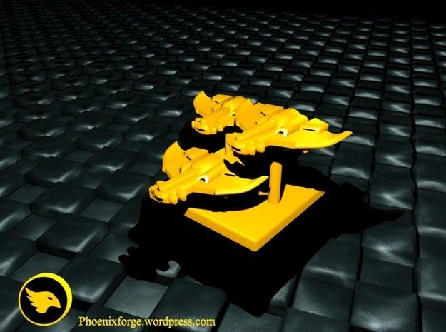 Tau Bomber Markers in Yellow Processed Versatile Plastic