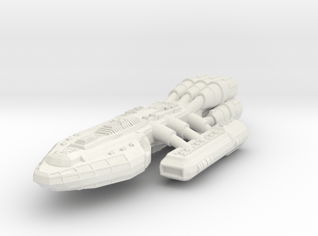 Battlestar in White Natural Versatile Plastic