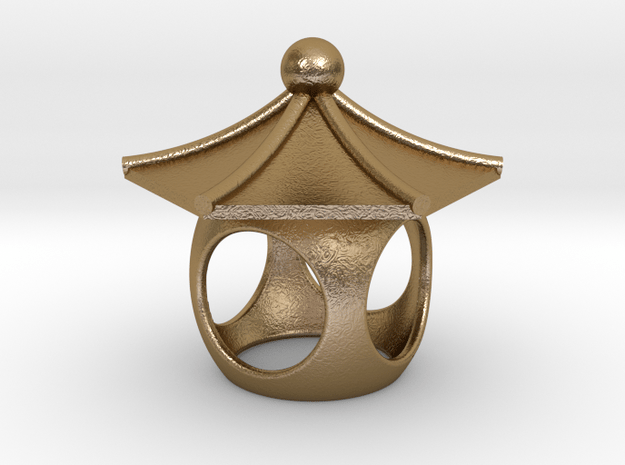 Spirit House - Curious in Polished Gold Steel