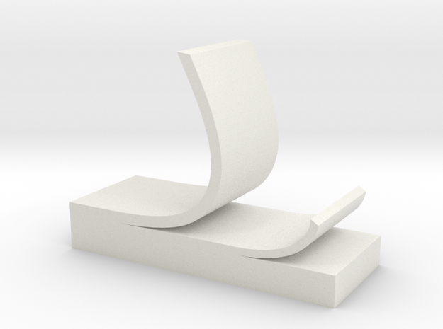 Sticky note phone stand in White Natural Versatile Plastic