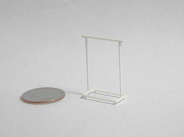1:48 Garment Rack in White Natural Versatile Plastic