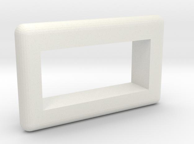 Rounded .28 Voltmeter Bezel in White Natural Versatile Plastic