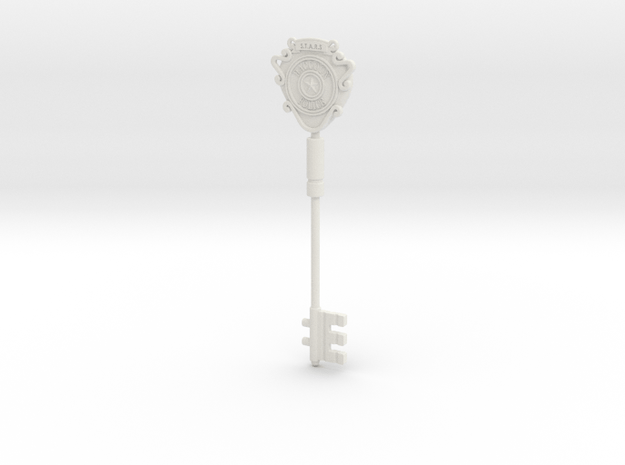 S.T.A.R.S. Office key (Unpainted model) in White Natural Versatile Plastic