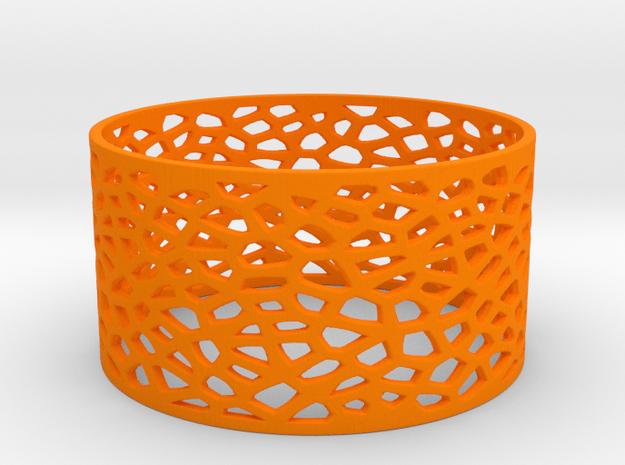 Voronoi Bracelet 78mm in Orange Processed Versatile Plastic
