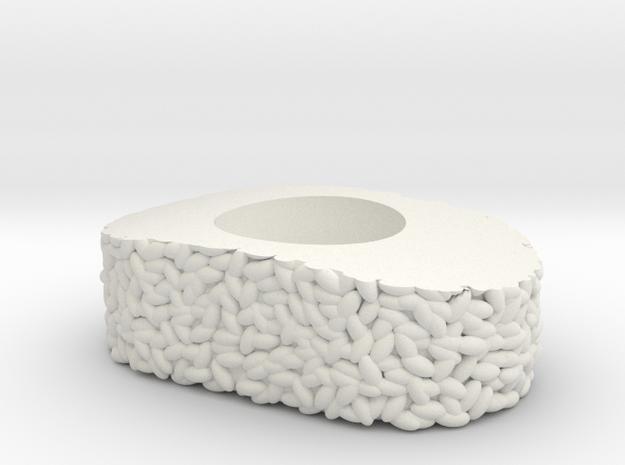 "Sushi ""Vinegared Rice"" in White Natural Versatile Plastic"