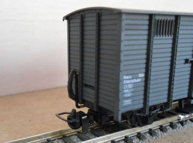 ZB (H0e) - Bremsschläuche für 8 Güterwagen in Smooth Fine Detail Plastic