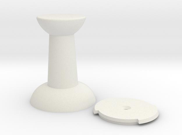 Push-Pin Hook in White Natural Versatile Plastic
