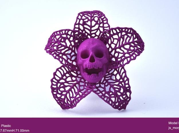 Skeletal Flower in Purple Processed Versatile Plastic