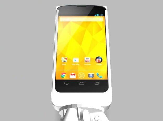 Nexus 4 Camera Mount 5000mah Charger USB Power in White Natural Versatile Plastic