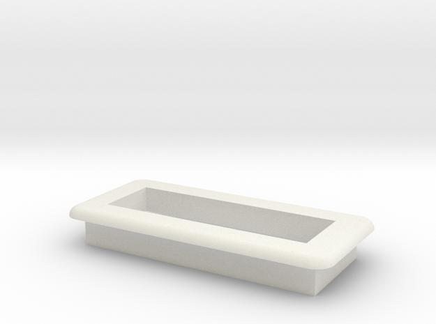DNA Large Screen Bezel/Cradle - v2 in White Natural Versatile Plastic