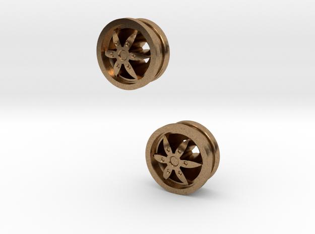2x Designfelgen für LKW  Nr.1 in Natural Brass