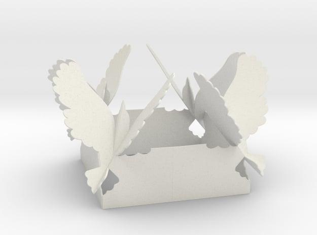 Birds Fly Decorative Inside in White Natural Versatile Plastic