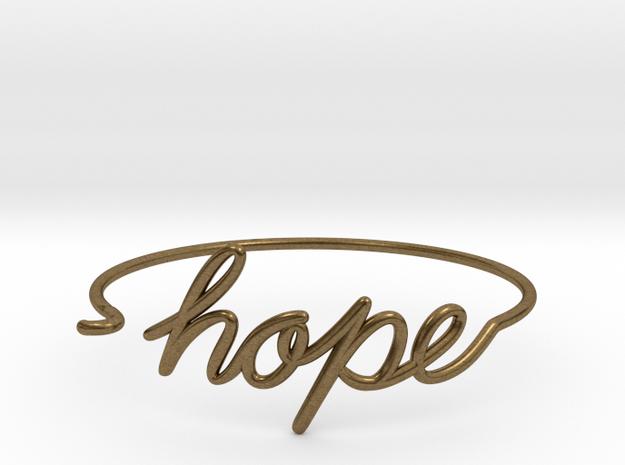 Hope Wire Bracelet in Natural Bronze