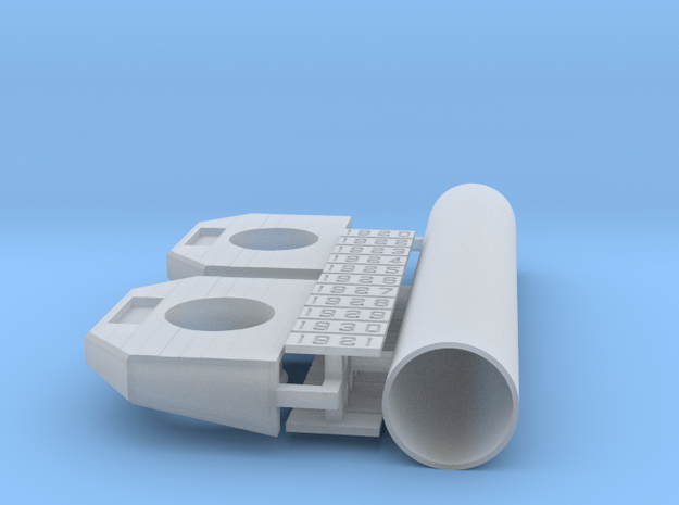 CNR/ PEIR S Scale Concrete Single Culvert in Smooth Fine Detail Plastic