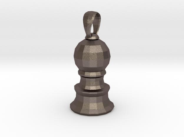 PawnPendants in Polished Bronzed Silver Steel