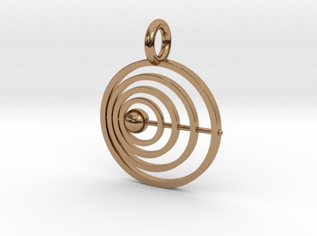 Satellite Pendant in Polished Brass