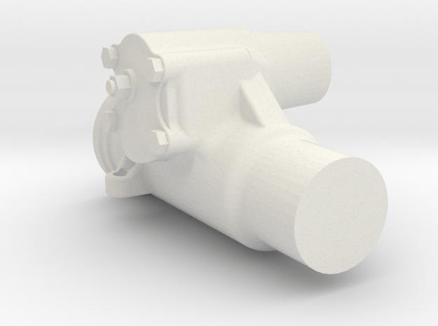 1/6 Scale Saginaw Steering Box in White Natural Versatile Plastic