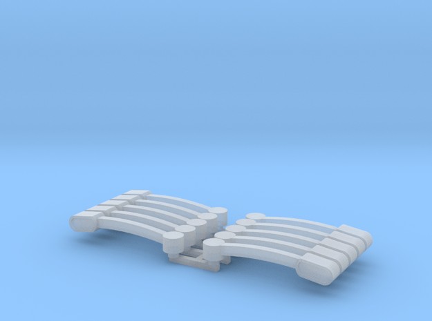 Flasher Bars Five Pack 1/64 Scale  in Smooth Fine Detail Plastic