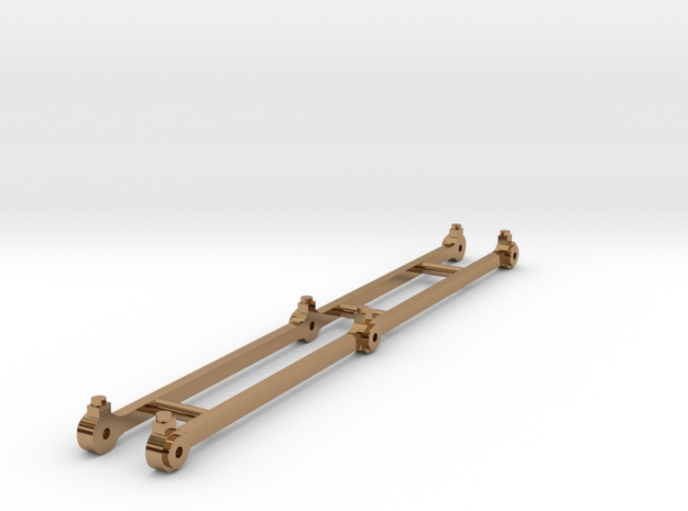 Coupling rods for J65 class 0.6.0 tank loco in Polished Brass
