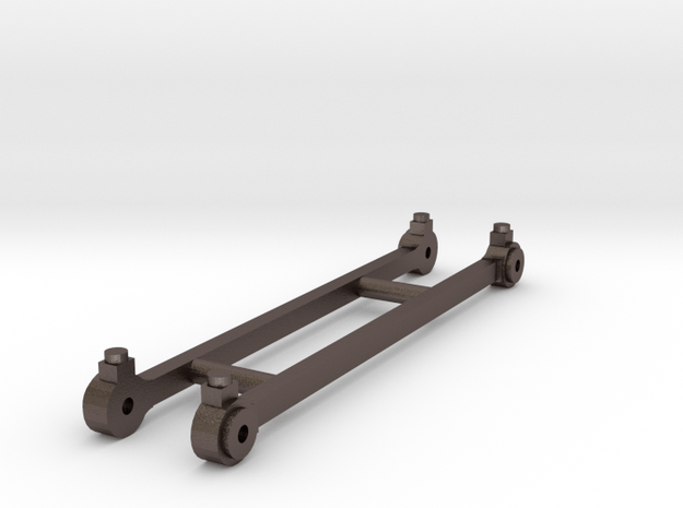 Coupling rods for J65 class running as a 2.4.0t in Polished Bronzed Silver Steel