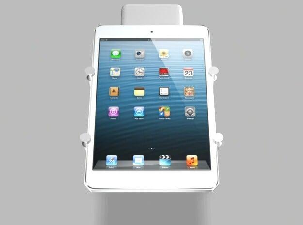 iPad Mini 5000mah Charger Universal Tripod Mount w in White Natural Versatile Plastic