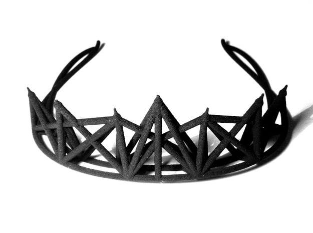 Radical Tiara in Black Natural Versatile Plastic