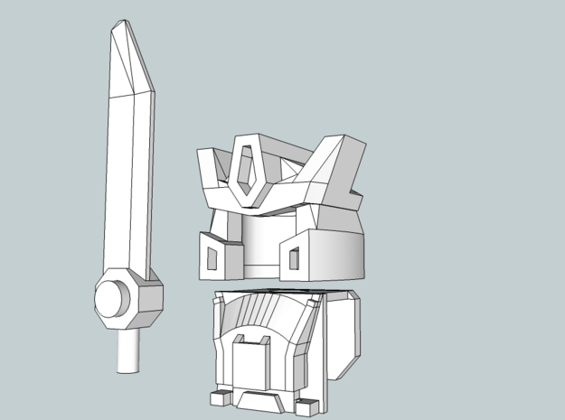 Samurai-bot Upgrade Set in White Natural Versatile Plastic
