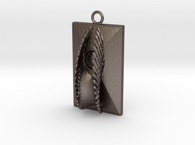 Pendant VI in Polished Bronzed Silver Steel