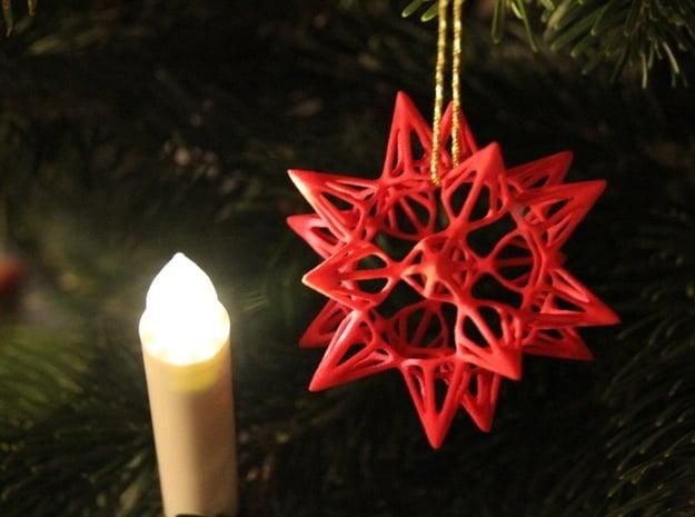 Star Point: Christmas Ornament in White Natural Versatile Plastic
