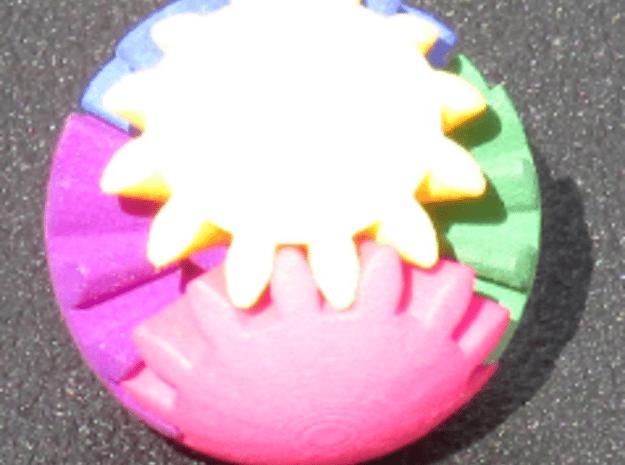 Gear Sphere in Blue Processed Versatile Plastic