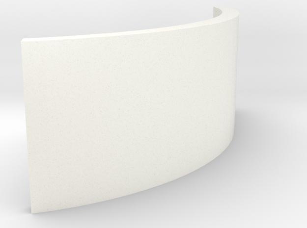 ZE Buffer LGB in White Processed Versatile Plastic