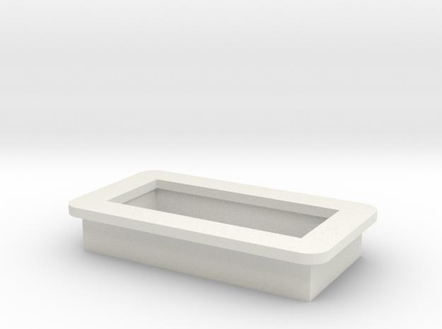 "0.28"" Voltmeter Bezel/Cradle - v1 in White Natural Versatile Plastic"